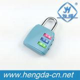 Segredo personalizado Yh9055 3 cadeado da combinação de três Digitas