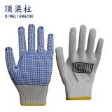 7g хлопка трикотажные рабочие перчатки с ПВХ One-Side точек
