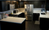Le châssis de la construction modulaire des armoires de cuisine moderne en bois massif Espresso Shaker