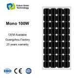 панель клетки солнечной силы высокой эффективности 100W для солнечной системы