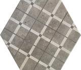 Azulejo de suelo de cerámica de 260*300m m del cemento modelo geométrico gris del hexágono del vario