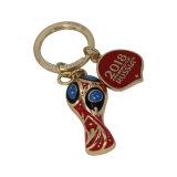Globo Keychain della neve di Keychain del Rhinestone di Keychain della parte di puzzle del rifornimento della fabbrica
