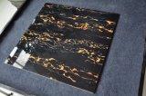 Vorhalle-Fußboden-Schwarz-Goldfliese/schwarzer Marmorfußboden/Schwarz-Polierfliese