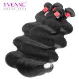 卸売100%の人間の毛髪の織り方は加工されていないバージンのブラジル人の毛を束ねる