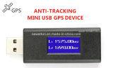 Mini stampo nascosto Anti-Tracking a due frequenze del USB GPS dello schermo del LED
