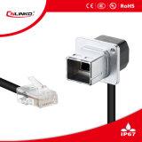 Marque Cnlinko IP65 jack modulaire du connecteur du câble réseau RJ45 fiche et douille de montage pour la transmission du signal