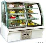 Japanic HandelsSlivery Edelstahl-Marmorierungkuchen gekühlter Bildschirmanzeige-Schaukasten