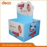 Fußboden-Papierbildschirmanzeige-Zahnstangen-Pappladeplatten-Bildschirmanzeige für Einzelverkauf