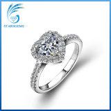 Ringen van de Diamant van Moissanite van de Stijl van de Manier van de Duidelijkheid van Vvs van de Besnoeiing van de Vorm van het hart de Briljante