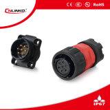 Cnlinko LED 스크린을%s 플라스틱 7pin 연결관 철사 남성 플러그