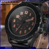 Relógio de pulso clássico feito sob encomenda das senhoras do relógio de quartzo da cinta de couro do ODM (WY-P17015A)