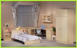 黒いカラー家具の鉄骨フレームのシングル・ベッド
