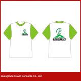 Concevoir les T-shirts blancs de blanc de coton d'hommes (R97)