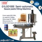 Halbautomatische Pasten-Füllmaschine der Soße-G1lgd1000 für Paprika Suace