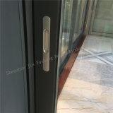 Puerta deslizante de aluminio revestida de la potencia superior con los obturadores