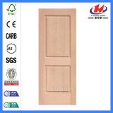 Double porte de la conception du châssis de porte intérieure résidentielle porte de bois de placage