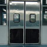 O tráfego de impacto de aço inoxidável gire a porta com vidro de segurança