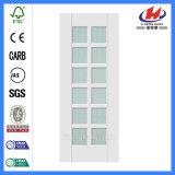 Porte en verre moulée en bois solide de décoration de cabinet (JHK-G30)
