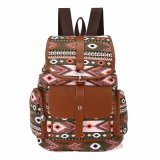 Холстина предзнаменования укладывает рюкзак Schoolbags рюкзака мешка плеча повелительниц (WDL0940)
