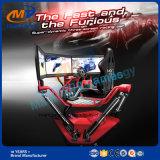 격렬한 3개의 스크린 6dof 자동차 경주 3D 게임 시뮬레이터