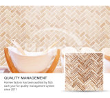 El premio de madera del grano de la impresión embaldosa el azulejo de mosaico de cristal al por mayor de Backsplash