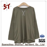 Camisetas de manga longa mulheres Casual sólido