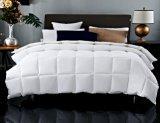Enchimento de penas de Pato Branco Quilted 100% de tecido de algodão Hotel Bedding Define Feather Consolador