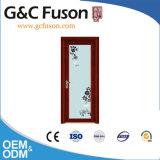Porte en aluminium de tissu pour rideaux de bâti de Guangdong de couleur en bois de chêne