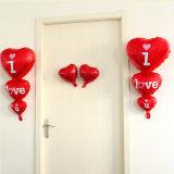 Globo del corazón de la boda del día de tarjeta del día de San Valentín te amo