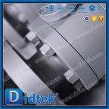 Valvola a sfera molle a due pezzi di galleggiamento di sigillamento di Didtek con la leva di gestione