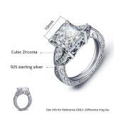 Anello di unione delle donne degli uomini di Zircon di lustro dell'anello di cerimonia nuziale di modo per l'anello sterlina d'argento del regalo & del partito 925 (533628787892)