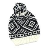Unisex связанный Beanie шлема зимы жаккарда теплый (HW150)