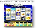 Het leven van Luxe 15 Line Het Gokken van de Machine van het Spel van de Machine van het Spel van de groef Muntstuk In werking gestelde Machine