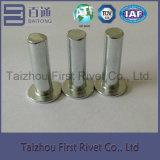 rebite de aço contínuo principal liso da cor do zinco do branco de 5X16mm