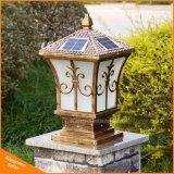 Luz solar ligera solar impermeable al aire libre del pilar