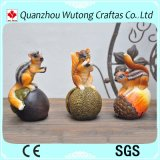 Decorazione animale del giardino dello scoiattolo della resina dei Figurines del giardino della resina mini