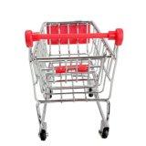 Металлические мини супермаркет корзины покупок игрушек передвижного блока