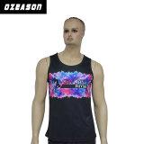 Diseño personalizado a las mujeres Camiseta de tirantes transpirable Gym Fitness Camiseta de tirantes (SL027)
