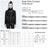 Ouatines minces métalliques lourdes Hoodies de femmes d'automne punk de l'éloge Y-789