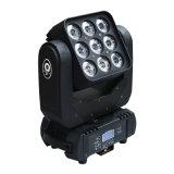 Sharpy 9*10W RGBW 4 in 1 indicatore luminoso capo mobile della fase del fascio 3X3 della tabella del LED