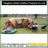 Tubo redondo no piso superior Luxo Família Camping tenda fazendo entregas