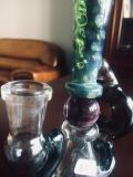 Venta caliente nueva venida Hbking Waterpipe de vidrio de color verde con bola de cristal de agua del tubo de vidrio Tubos de vidrio de pipa de vidrio