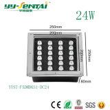 LED quadrado 24W LED impermeável IP65 Luz Subterrâneo