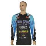 La vente en gros conçoivent les chemises en bonne santé de pêche de dri estampées par sublimation