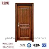 Puertas exteriores de madera de la entrada principal del fabricante de China las últimas