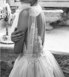 Mangas Suite Quarto uma linha de Chiffon Lace Beach Garden vestido de noiva LB18713