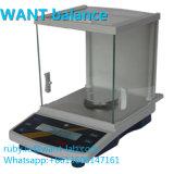 200 g de 1mg 0,001g Miligram escalas para análise com um pára-brisas de vidro