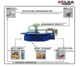 Máquina de moldear superior tricolor de PVC/TPR