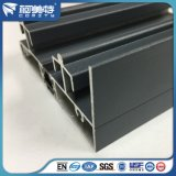Profil de revêtement de guichet en aluminium de poudre grise d'isolation thermique d'OEM 6063