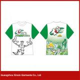 Magliette poco costose di promozione di stampa su ordinazione dello schermo per il commercio all'ingrosso (R160)